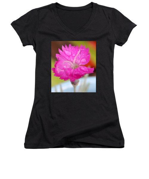 Water Bug Flower Women's V-Neck (Athletic Fit)
