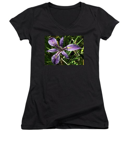 Water Iris Women's V-Neck (Athletic Fit)