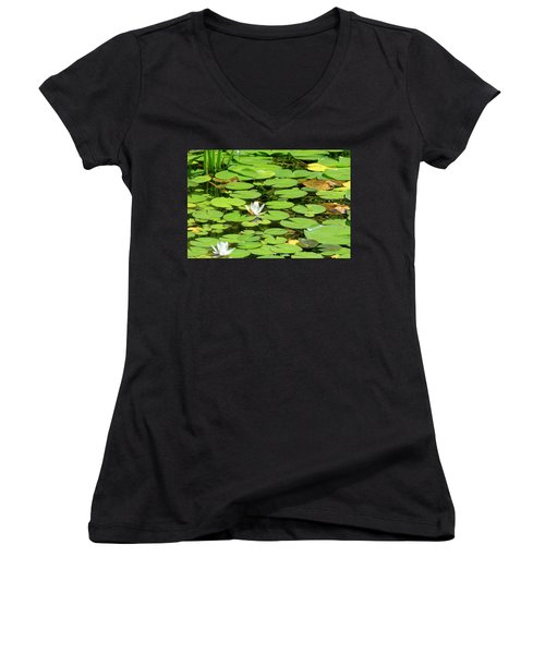 Water Lillies Women's V-Neck