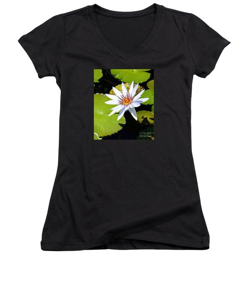 Water Lily 10 Women's V-Neck T-Shirt