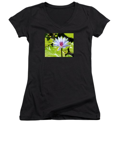 Water Lily 4 Women's V-Neck T-Shirt