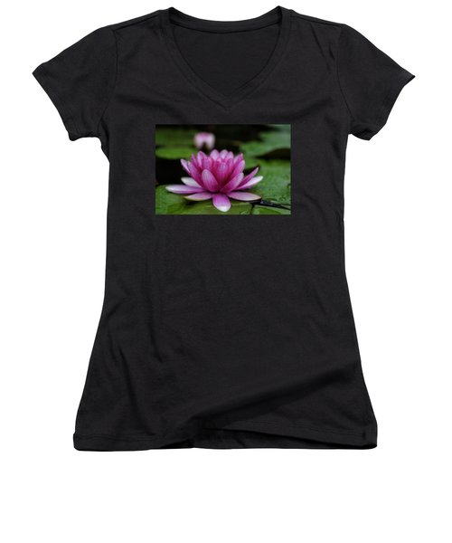 Water Lily After Rain Women's V-Neck (Athletic Fit)