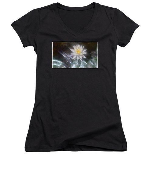 Water Lily In Sunlight Women's V-Neck (Athletic Fit)