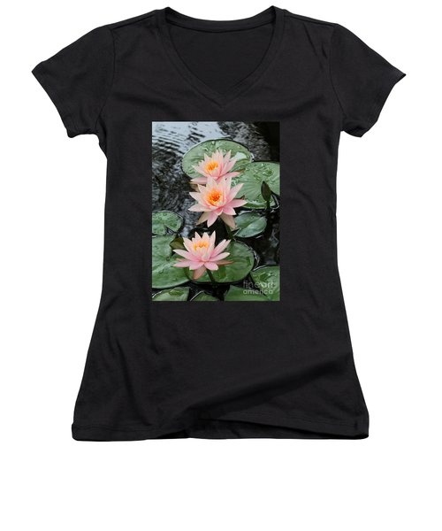Water Lily Trio Women's V-Neck