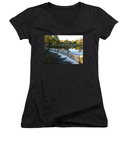 Water Over The Dam Women's V-Neck (Athletic Fit)