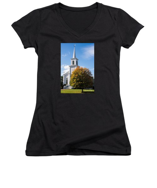 Waterbury Congregational Church, Ucc Women's V-Neck (Athletic Fit)
