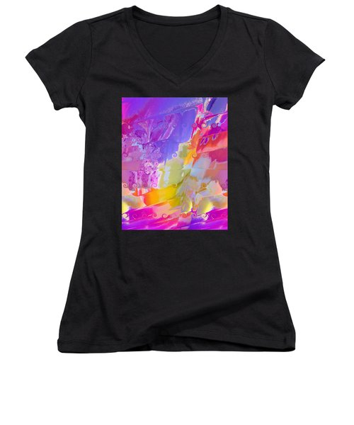 Waterfall Women's V-Neck T-Shirt (Junior Cut) by Alika Kumar