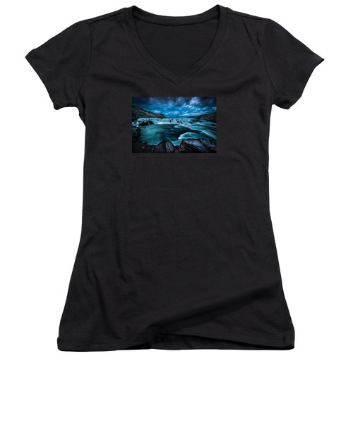 Waterfall Drama Women's V-Neck (Athletic Fit)
