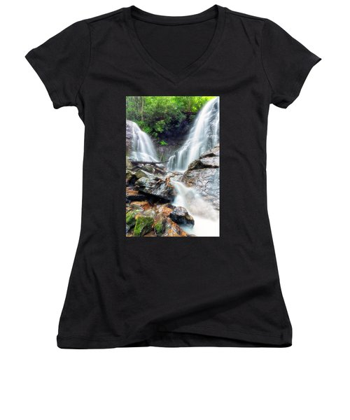 Waterfall Silence Women's V-Neck (Athletic Fit)