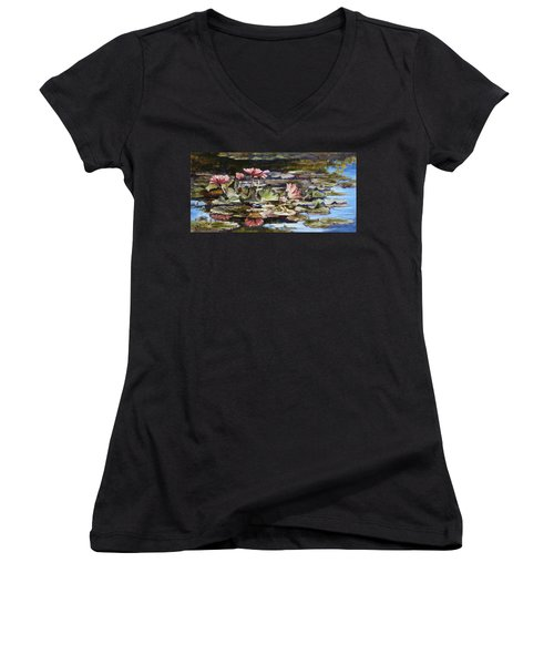 Waterlilies Tower Grove Park Women's V-Neck (Athletic Fit)