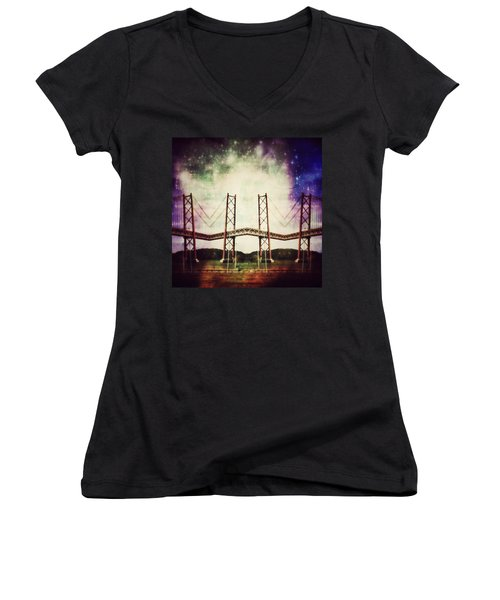 Way To The Stars Women's V-Neck T-Shirt (Junior Cut) by Jorge Ferreira