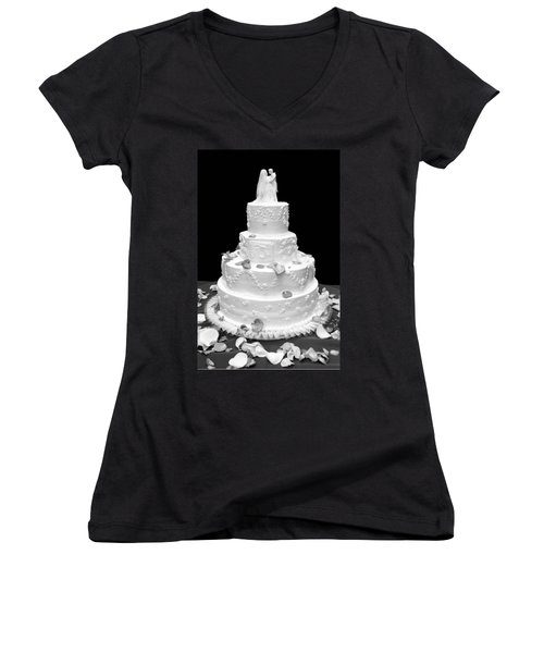 Wedding Cake Women's V-Neck (Athletic Fit)