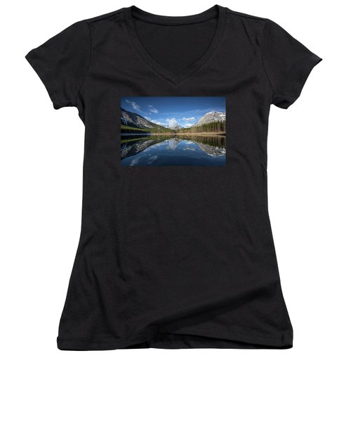 Wedge Pond Reflections Women's V-Neck (Athletic Fit)