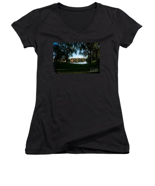 Weeping Willows Women's V-Neck T-Shirt
