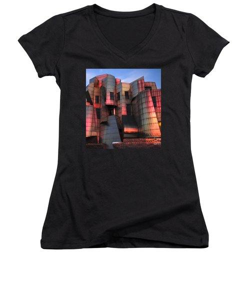 Weisman Art Museum At Sunset Women's V-Neck (Athletic Fit)