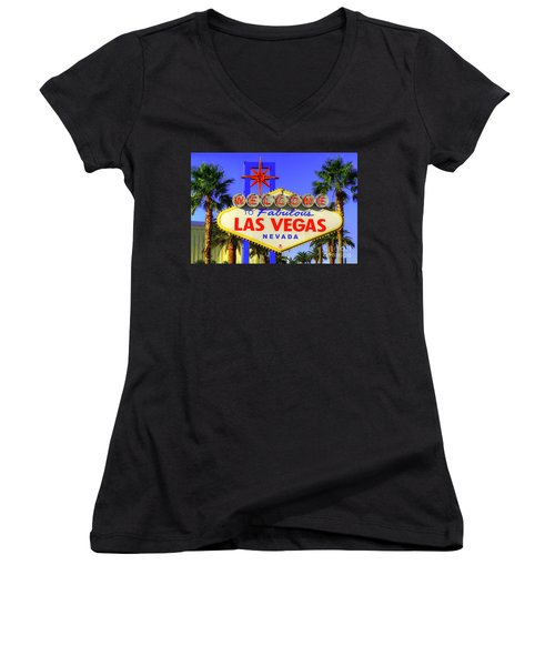 Welcome To Las Vegas Women's V-Neck