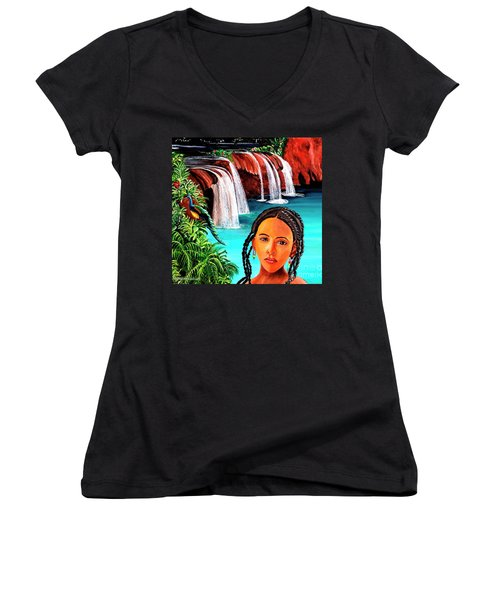Welcome To My Sancturary Women's V-Neck (Athletic Fit)