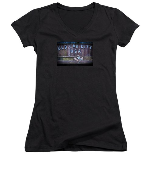 Welcome To Old Car City Women's V-Neck