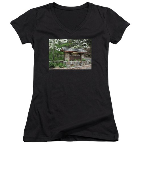 Welcome To Signal Mountain Spring Women's V-Neck