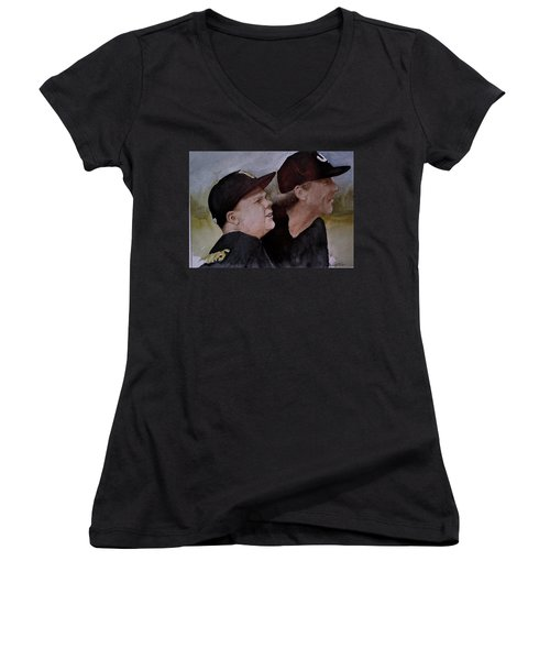 Wes And Dad Women's V-Neck T-Shirt (Junior Cut)