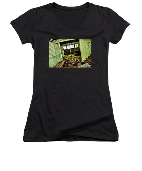 Westbend Women's V-Neck T-Shirt (Junior Cut) by Ryan Crouse