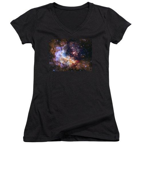 Westerlund 2 - Hubble 25th Anniversary Image Women's V-Neck