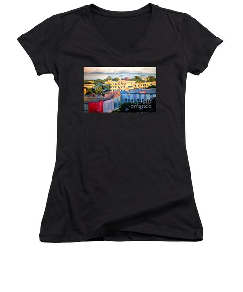 Western Part Of Sorong Town Women's V-Neck T-Shirt