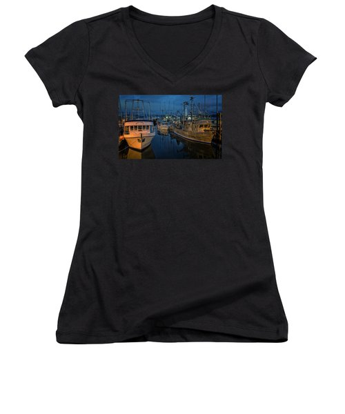 Women's V-Neck T-Shirt (Junior Cut) featuring the photograph Western Prince by Randy Hall