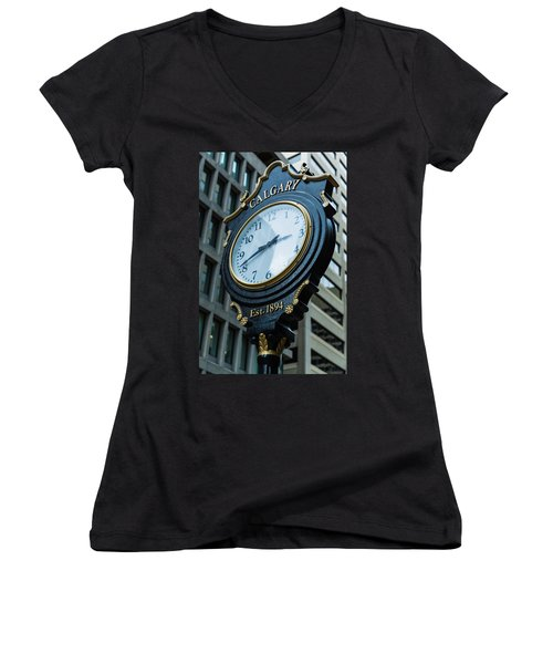 Western Time Women's V-Neck T-Shirt