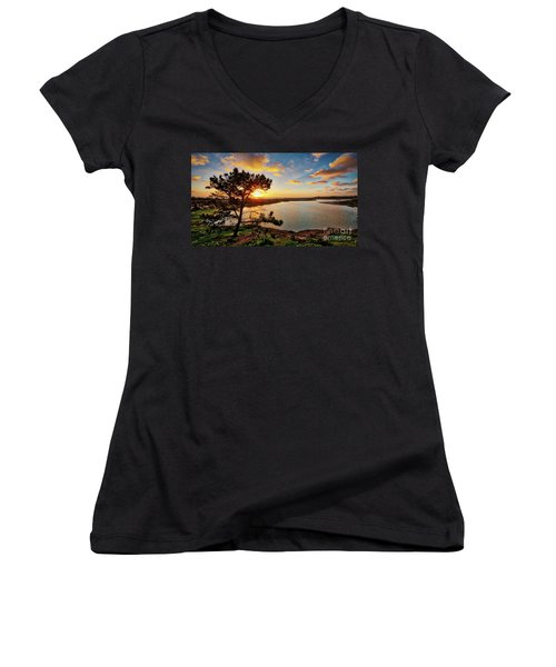 What A Glow At The Batiquitos Lagoon Women's V-Neck