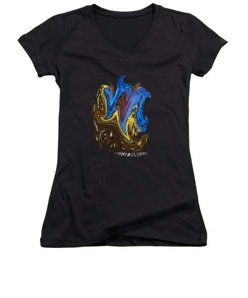 What A Mess Transparancy Women's V-Neck (Athletic Fit)