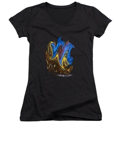 What A Mess Transparancy Women's V-Neck T-Shirt