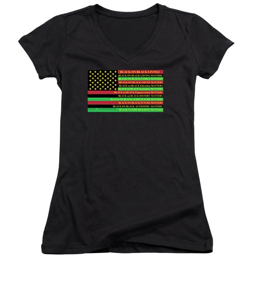 What About Black On Black Living? Women's V-Neck (Athletic Fit)