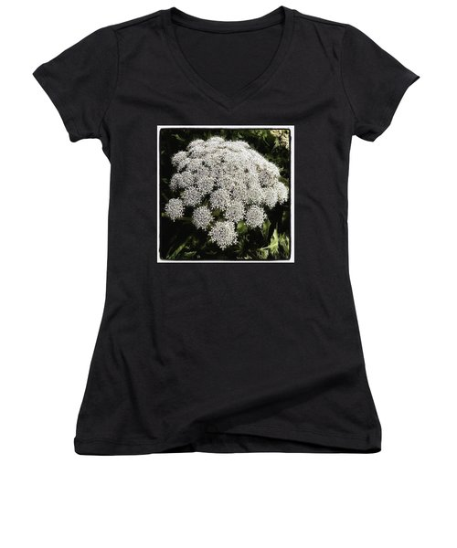Women's V-Neck featuring the photograph What Flower Is This? I Think It's by Mr Photojimsf