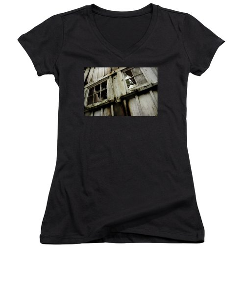 Women's V-Neck T-Shirt (Junior Cut) featuring the photograph What Lies Within by Mike Eingle