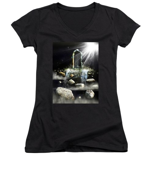 What's The Next Step  Women's V-Neck T-Shirt