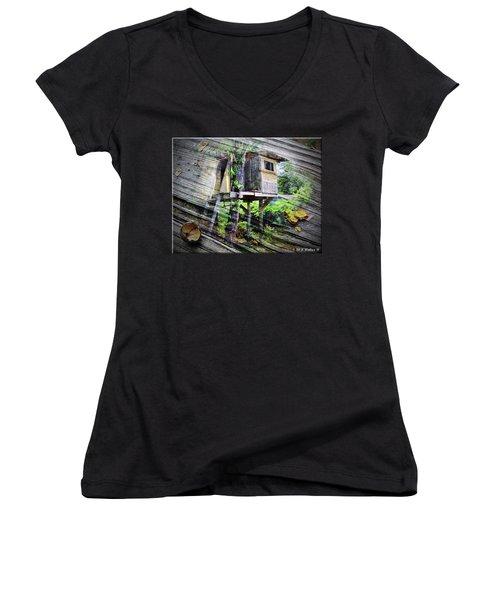 Women's V-Neck T-Shirt (Junior Cut) featuring the photograph When Boys Dream by Brian Wallace