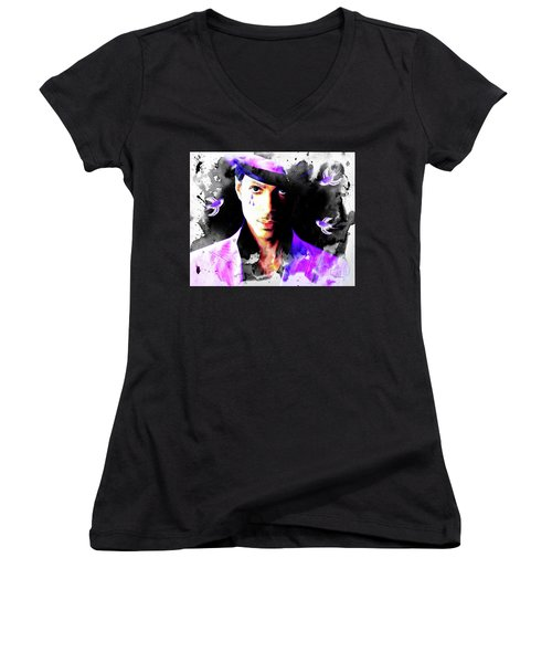 When Doves Cry Women's V-Neck (Athletic Fit)