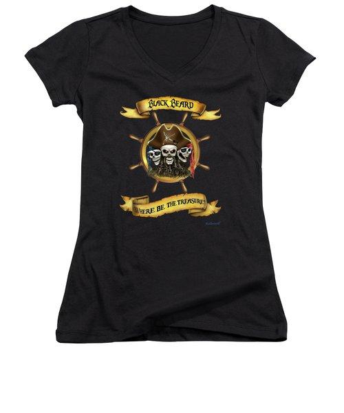 Where Be The Treasure? Women's V-Neck T-Shirt