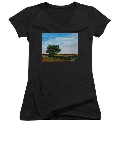 Where The Fields Meet Women's V-Neck (Athletic Fit)