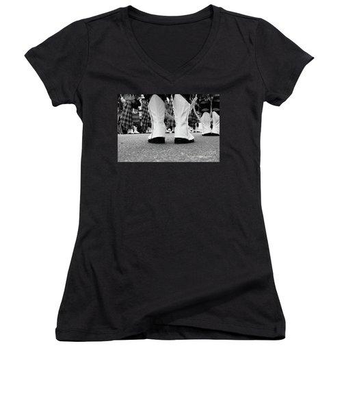 White Boots  Women's V-Neck T-Shirt
