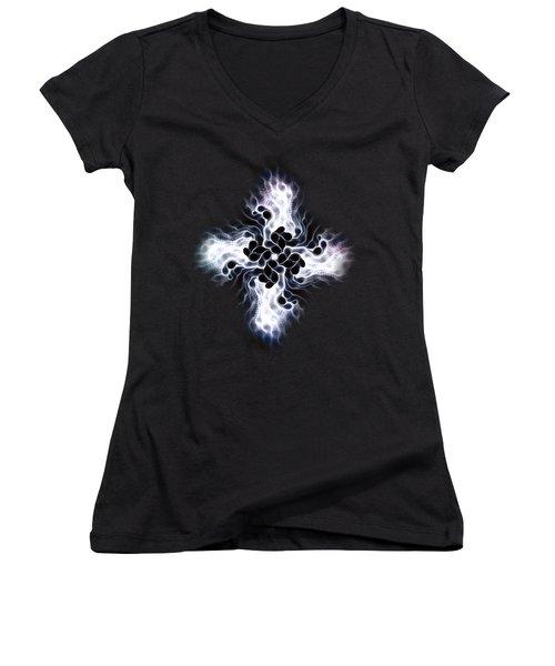 White Cross Women's V-Neck