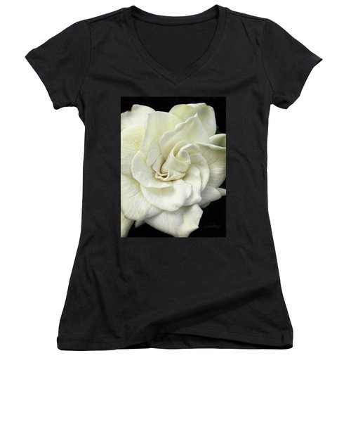 White Knight Women's V-Neck