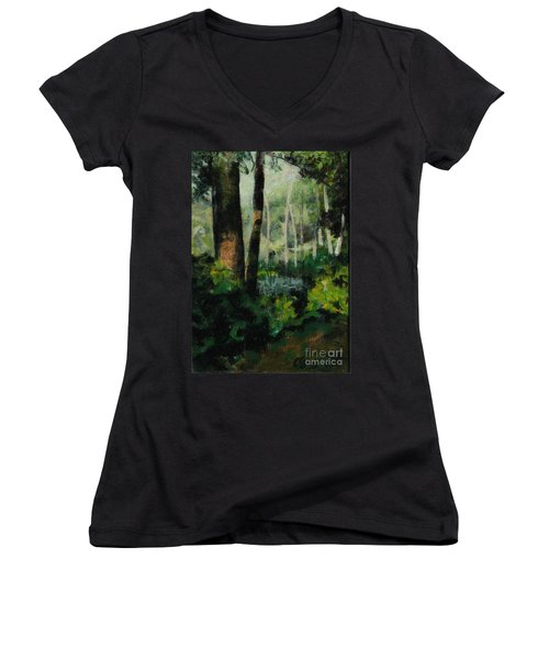 White Mountain Woods Women's V-Neck (Athletic Fit)