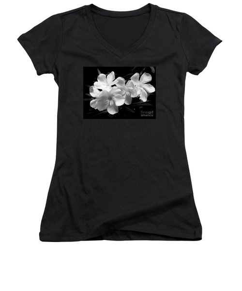 White Oleander Women's V-Neck (Athletic Fit)