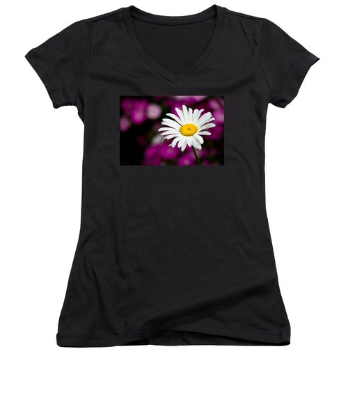 White On Pink Women's V-Neck