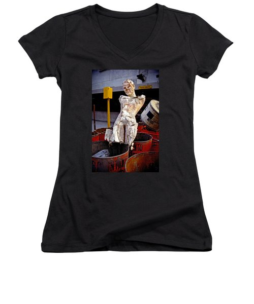 White Trash Women's V-Neck T-Shirt (Junior Cut)
