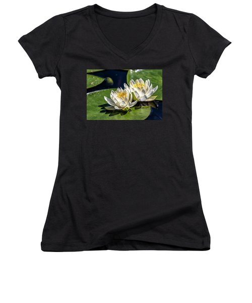 White Water Lilies Women's V-Neck