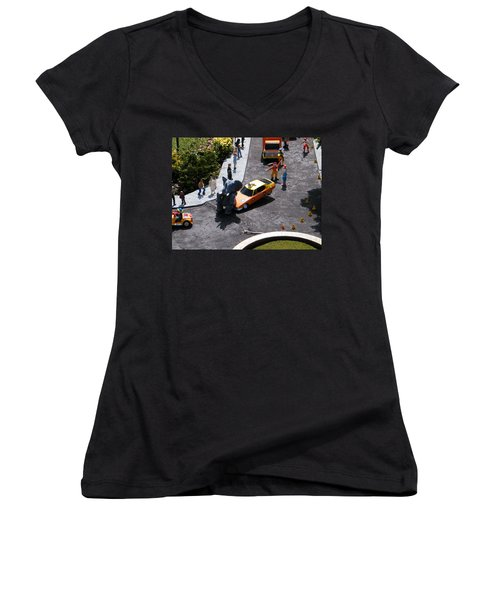Whoooooops Women's V-Neck (Athletic Fit)