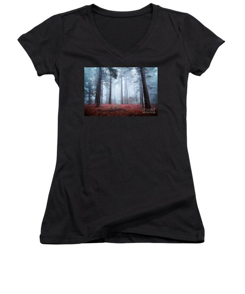 Why Is Sting Glowing Blue? Women's V-Neck T-Shirt (Junior Cut) by Giuseppe Torre